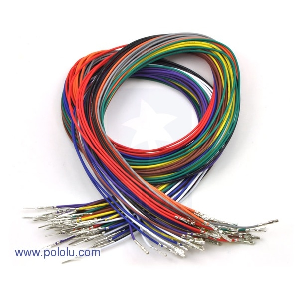 "Wires with Pre-crimped Terminals 50-Piece Rainbow Assortment M-F 24"" (60cm)"