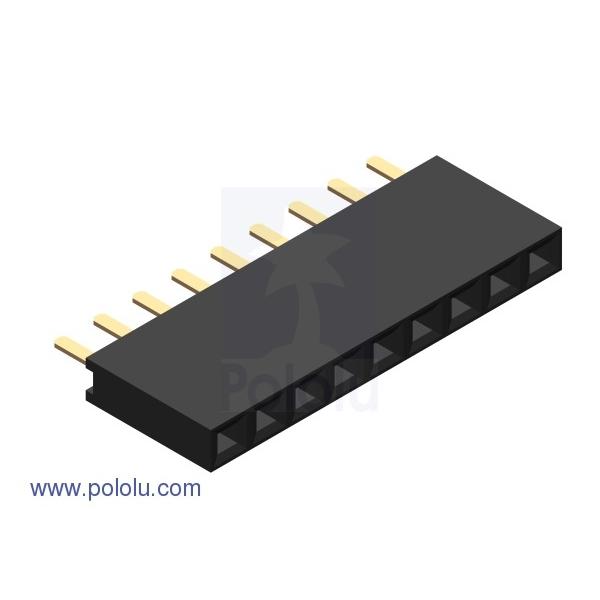 """0.100"""" (2.54 mm) Female Header: 1x9-Pin, Straight (10er Pack)"""