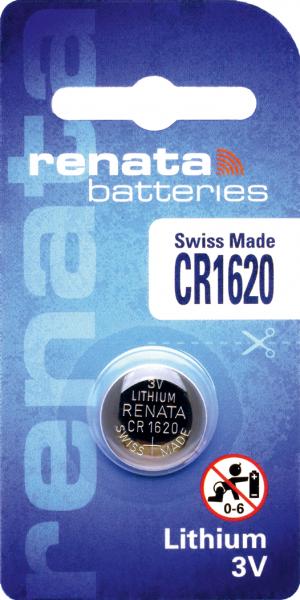 renata CR1620 3V Lithium Knopfzelle