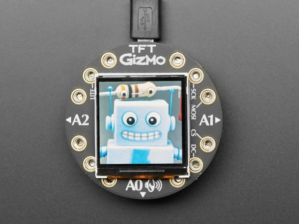 Circuit Playground TFT Gizmo - Bolt-on Display + Audio Amplifier