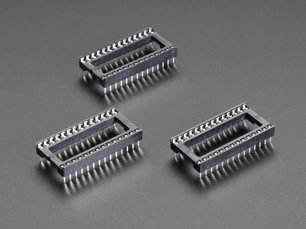 """IC Sockel für 28-polige 0,6"""" Chips (3 Stück)"""