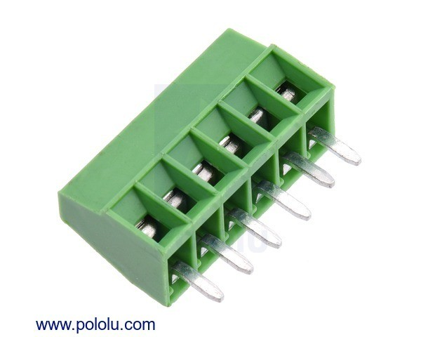 Screw Terminal Block: 6-Pin, 2.54mm Pitch, Side Entry