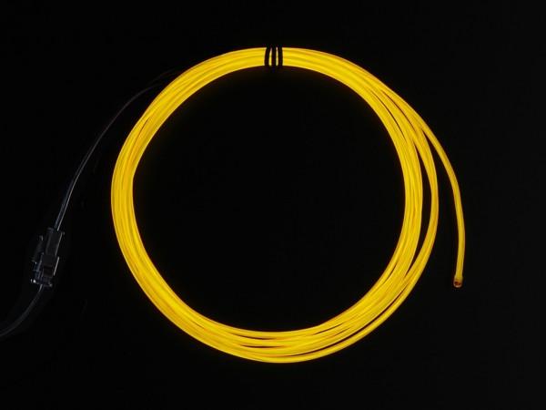 High Brightness Yellow Electroluminescent (EL) Wire - 2.5 meters - High brightness, long life