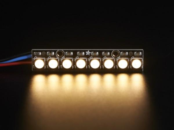 Adafruit NeoPixel Stick - 8 x 5050 RGBW LEDs - Warm White - ~3000K