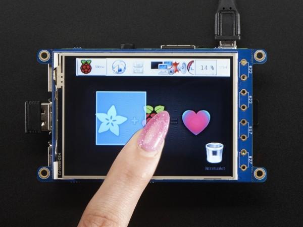 "Adafruit PiTFT Plus 320x240 3.2"" TFT + Resistive Touchscreen for Raspberry Pi"