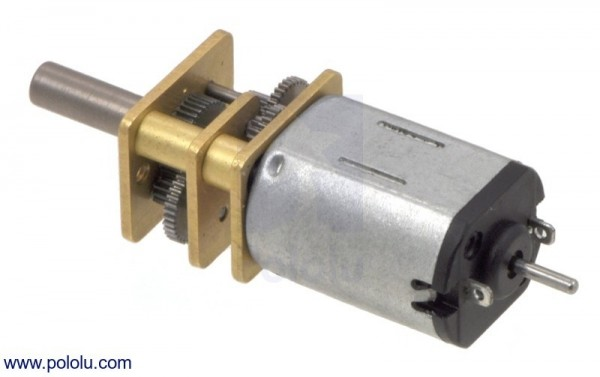 210:1 Micro Metal Gearmotor LP 6V with Extended Motor Shaft