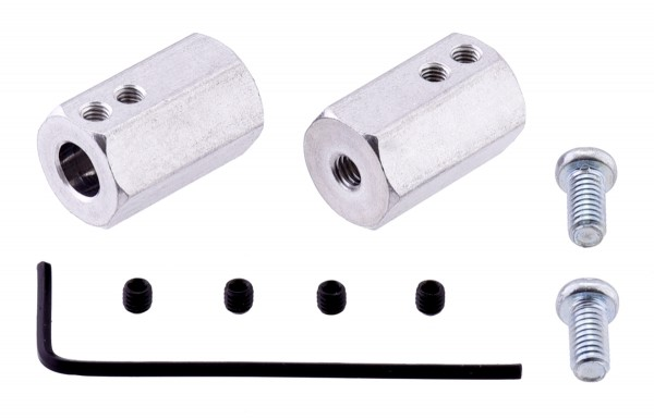 12mm Hex Wheel Adapter for 6mm Shaft (2-Pack)