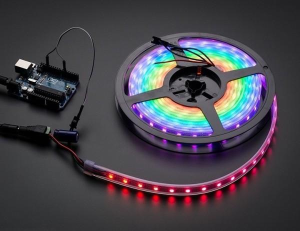 Adafruit NeoPixel Digital RGB LED Weatherproof Strip 60 LED -4m - BLACK