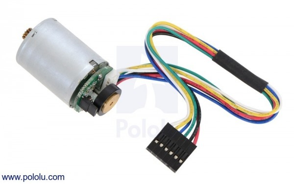 MP 12V Motor with 48 CPR Encoder for 25D mm Metal Gearmotors (No Gearbox)