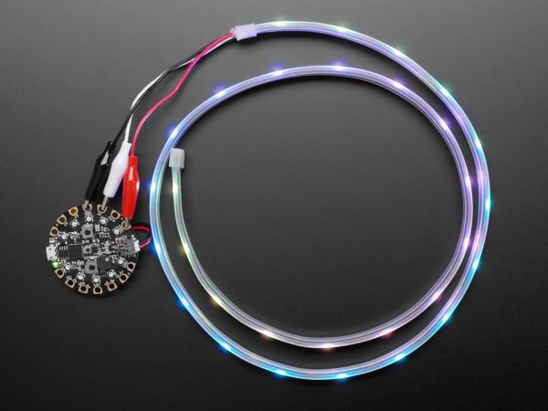 Adafruit NeoPixel LED-Streifen mit Krokodilklemmen (30 LED/m, 1 m)