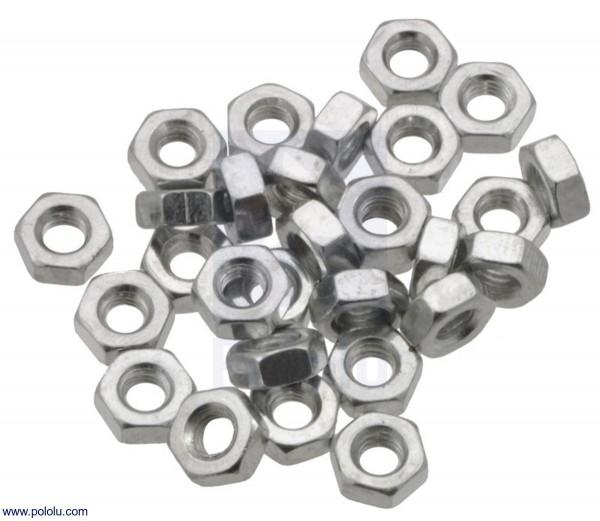 Machine Hex Nut: M2.5 (25-pack)