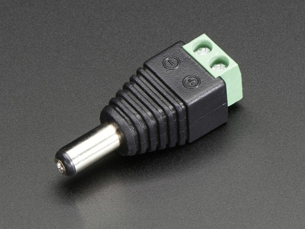 Male DC Power adapter - 2.1mm plug to screw terminal block