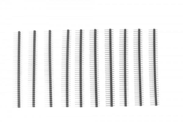 1x40 Pin Break Away Headers - Straight 10-Pack