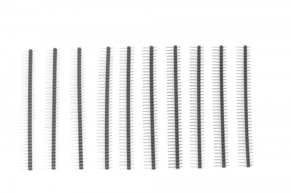 1x40 Pin Break Away Headers - Straight 10-Pack