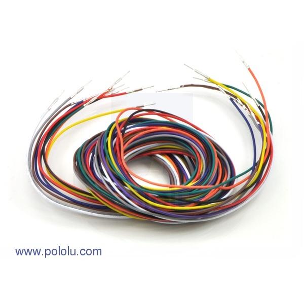 "Wires with Pre-crimped Terminals 10-Piece Rainbow Assortment M-M 60"" (150cm)"