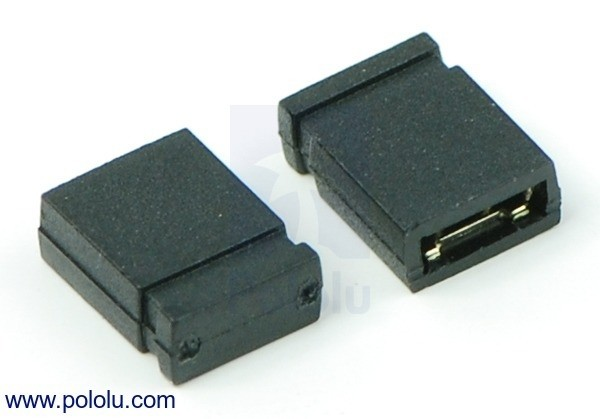 "0.100"" (2.54 mm) Shorting Block: Black, Top Closed (x5)"
