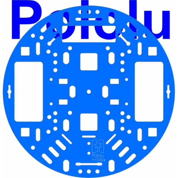 "Pololu 5"" Robot Chassis RRC04A Solid Light-Blue"