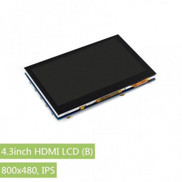 "4.3"" HDMI LCD (B), 800x480,IPS,capacitive touch"