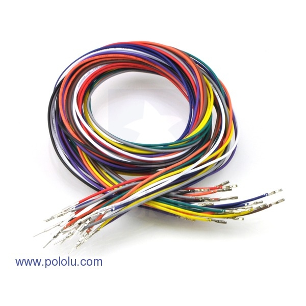 "Wires with Pre-crimped Terminals 20-Piece Rainbow Assortment M-F 36"" (90cm)"