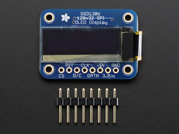 Adafruit Monochrome 128x32 SPI OLED Graphic Display