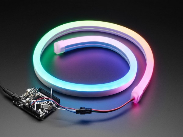 NeoPixel RGB Neon-like LED Flex Strip with Silicone Tube - 1 m