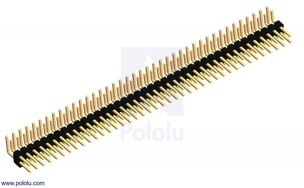 "0.100"" (2.54 mm) Breakaway Male Header: 2x40-Pin, Right Angle"