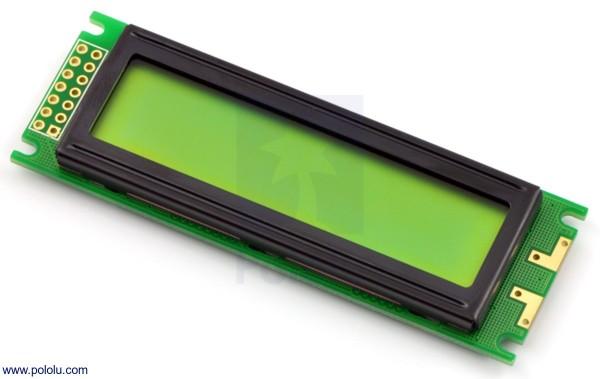 16x2 Character LCD (Parallel Interface), schwarz auf grün