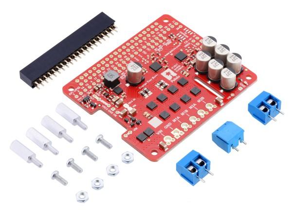 Pololu Dual G2 High-Power Motortreiber 24v14 für Raspberry Pi (Kit)