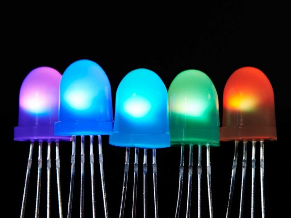 Adafruit NeoPixel Diffused 8mm Through-Hole LED - 5 Pack