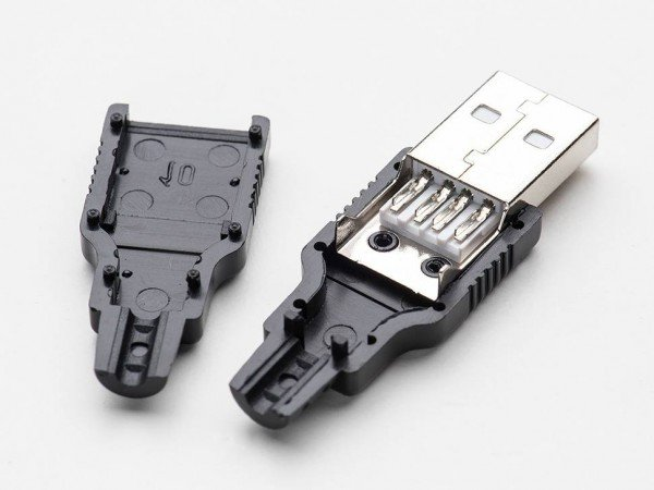 USB DIY Connector Shell - Type A Male Plug