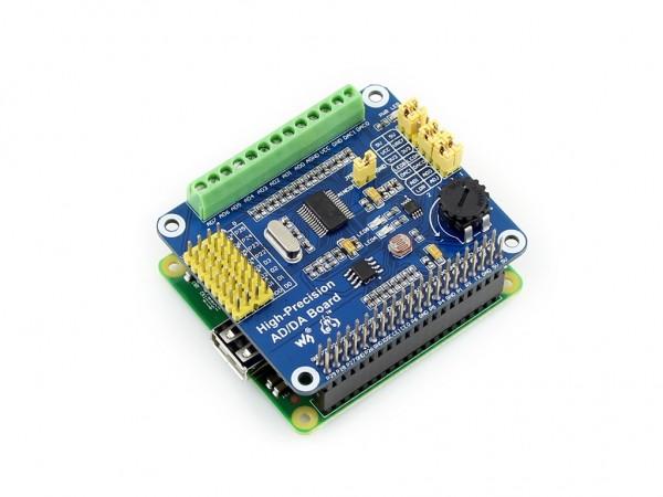 Raspberry Pi High-Precision AD/DA Expansion Board