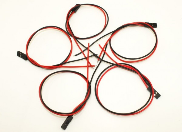 """Jumper Wire - 0.1"""" 2-pin Wire Assembly 300mm Pack of 10"""