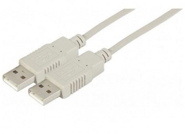 USB 2.0 Kabel, USB St. A / USB St. A, 1,0 m