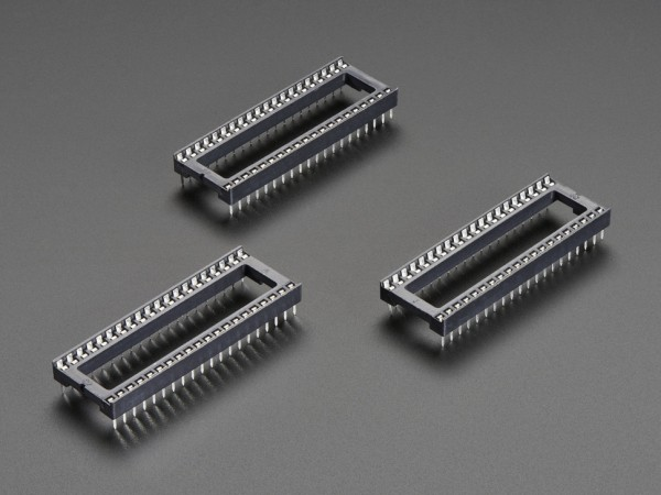 """IC Sockel für 40-polige 0,6"""" Chips (3 Stück)"""