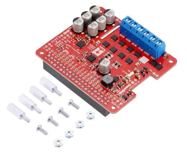 Pololu Dual G2 High-Power Motortreiber 24v14 für Raspberry Pi (zusammengebaut)