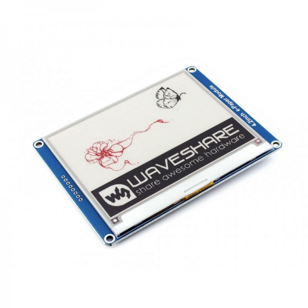 Waveshare 400x300, 4.2 Inch E-Ink Display Module, three-color