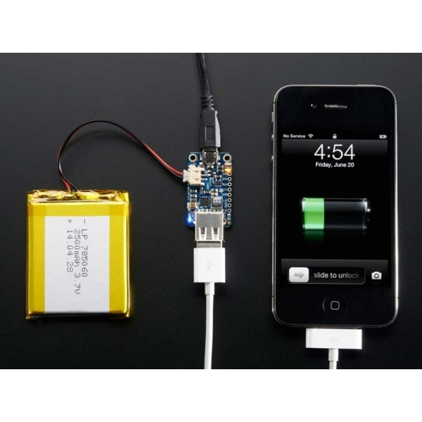 Adafruit PowerBoost 500 Charger - Rechargeable 5V Lipo USB Boost @ 500mA+