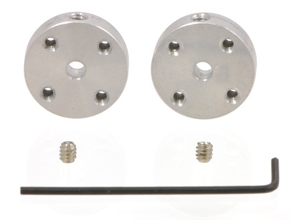 Pololu Universal Aluminum Mounting Hub for 3mm Shaft, M3 Holes (2-Pack)