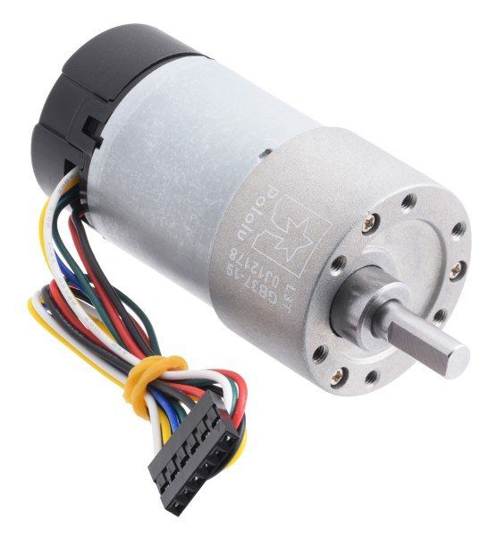 19:1 Metal Gearmotor 37Dx68L mm with Encoder