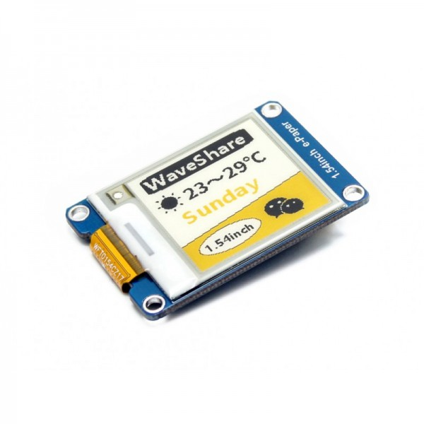 """Waveshare 1.54"""" E-Ink display module yellow/black/white three-color152x152"""