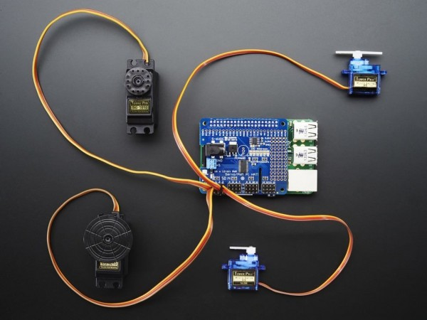 Adafruit 16-Channel PWM / Servo HAT for Raspberry Pi - Mini Kit