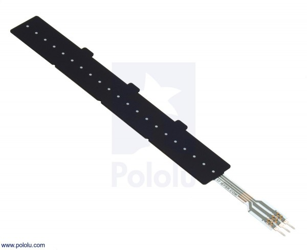 Force-Sensing Linear Potentiometer: 100mm x 10mm Strip FSLP Sensor