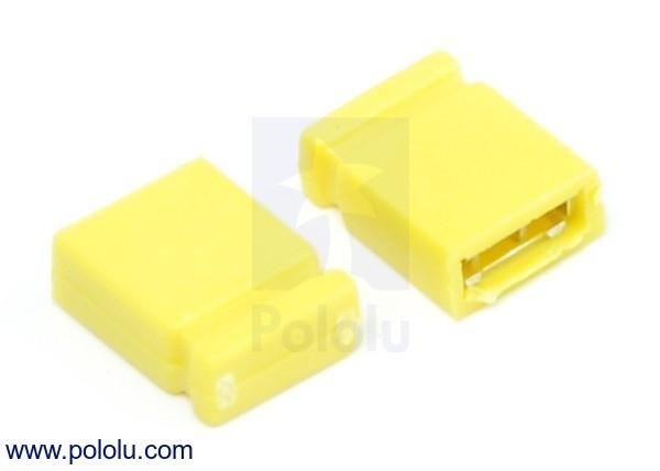 """0.100"""" (2.54 mm) Shorting Block: Yellow, Top Closed (x5)"""