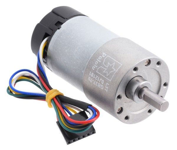 70:1 Metal Gearmotor 37Dx70L mm with Encoder