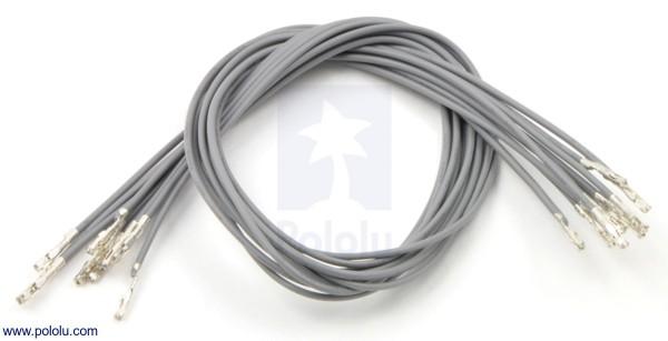 Wires w/ Pre-Crimped Terminals F-F 30cm Gray x10