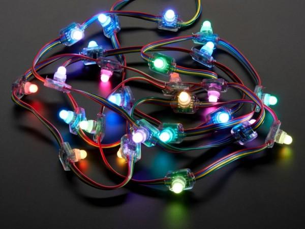 Adafruit 12mm Diffused Flat Digital RGB LED Pixels - Kette mit 25 LEDs - WS2801