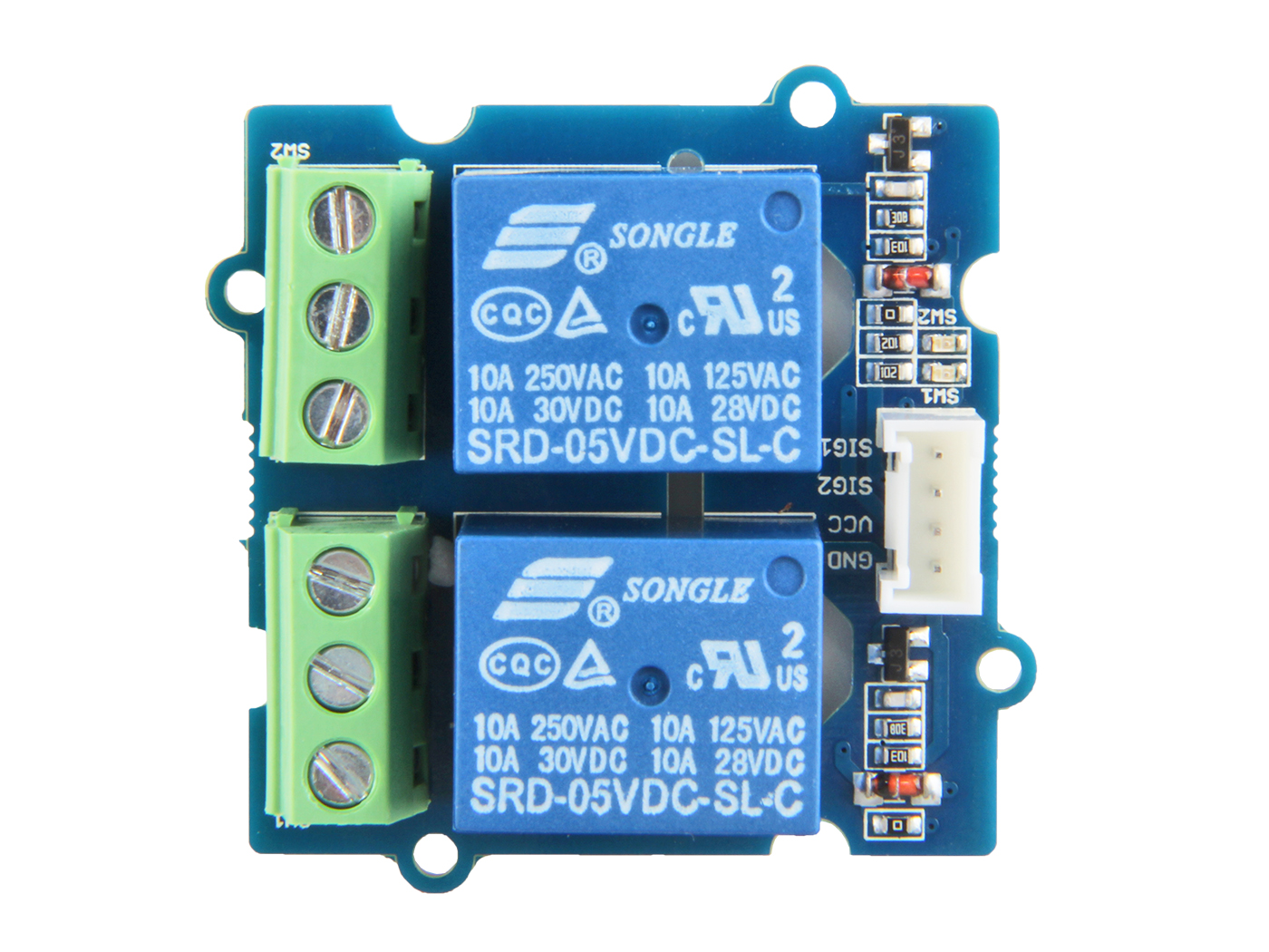 Seeed Studio Grove - 2-Channel SPDT Relay | Seeed Grove System ...