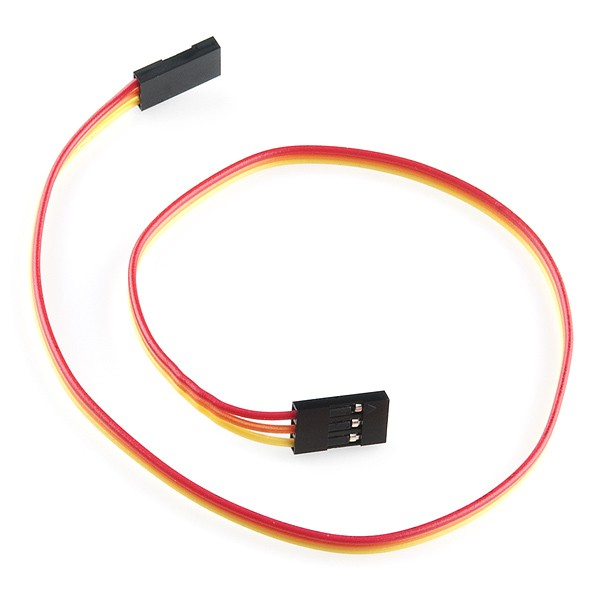 "Jumper Wire - 0.1"", 3-pin, 30cm"