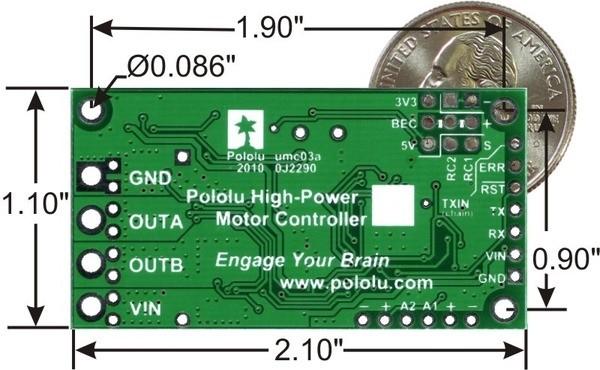 Pololu Simple High-Power Motor Controller 24v12