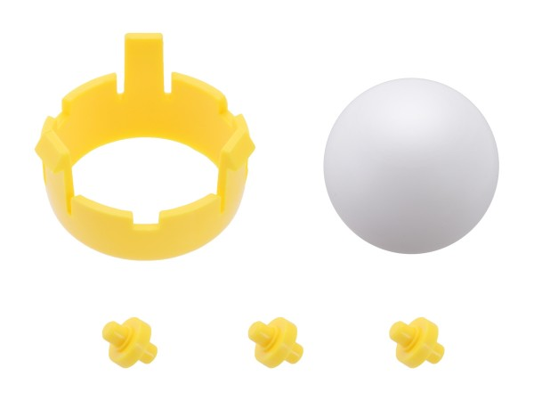 Romi Chassis Ball Caster Kit - Yellow